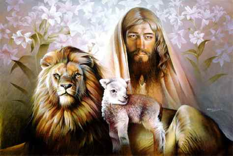 Yeshua, along with the Lion and the Lamb ... and a promise of 'swords to plowshares' ... death to the EGO and a promise of everlasting Life