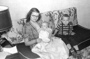 Baby Micheal with Mama Ziants and brother John, New Castle, PA 1952