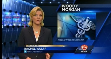 Rachel Wulff on-set at WDSU-TV