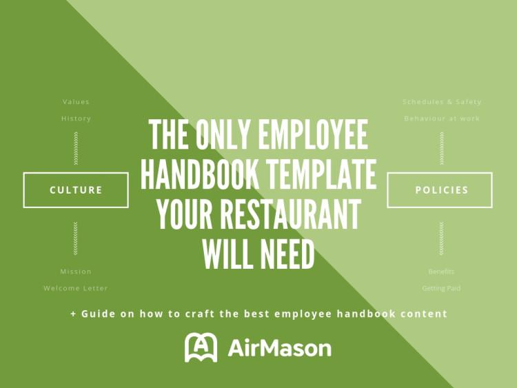 Employee Handbook Template for Restaurant