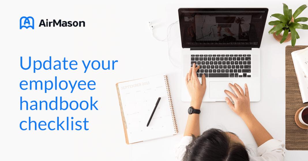 Update your employee handbook checklist