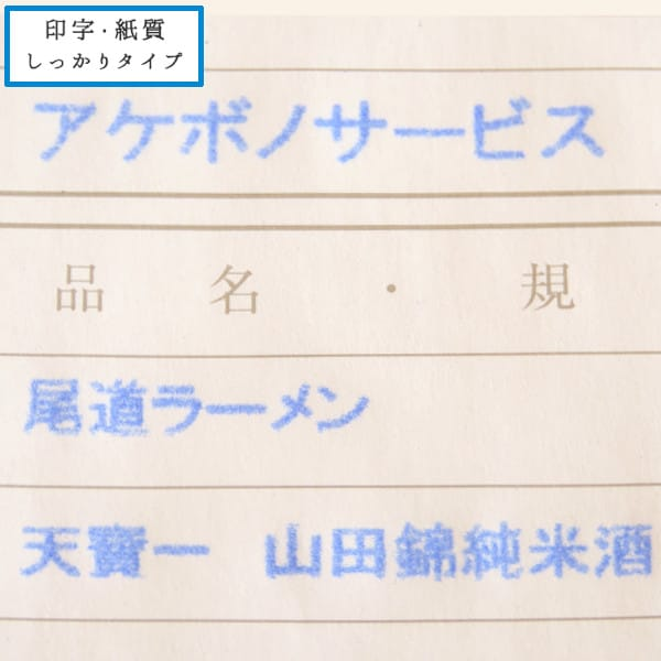 チェーンストア統一伝票 印字・紙質しっかりタイプのサンプル3枚目