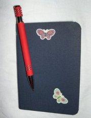 Foto eines Notizbuchs