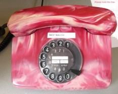 Foto, Telefon mit Drehscheibe