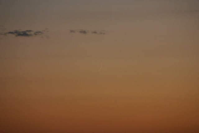 Hilal seen from Texas, USA on the evening of Tuesday, 9 July 2013.