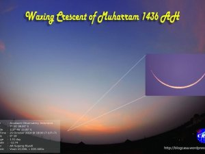 The Crescent Moon Photos for Islamic New Year 1436 AH