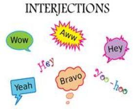 Interjections comme les parties du discours