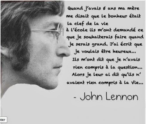 John Lennon uses l'imparfait in his quotes