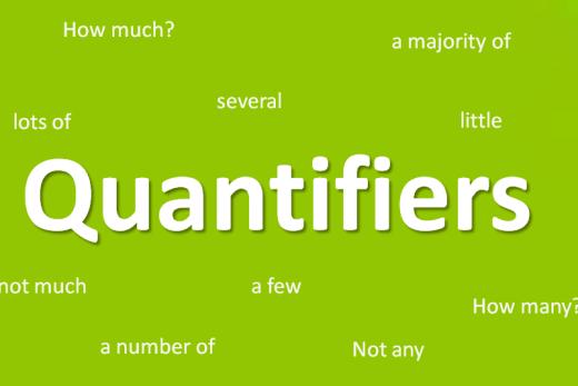 Les Quantificateurs en anglais.