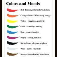 les couleurs et notre humeur.