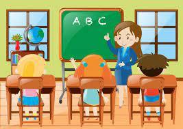 professeur dans la classe