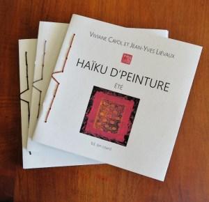 """notre premier livre d'art """"Haïku d'peinture"""" - Eté"""