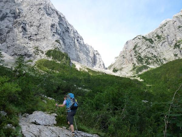 Der Aufstieg zum Luknja Pass