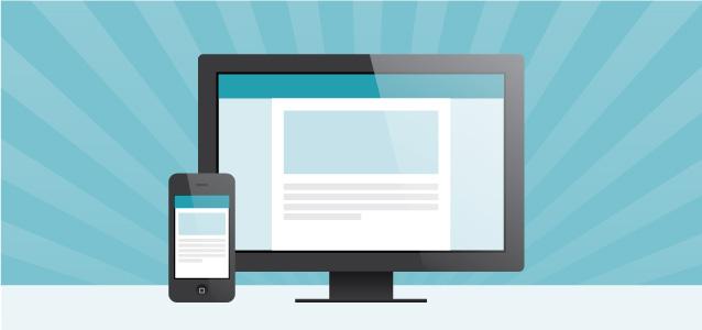 O mesmo site sendo usado em diversos dispositivos