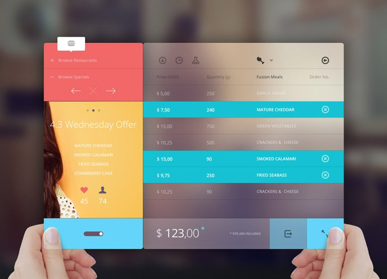 UI design feature images - minimalism