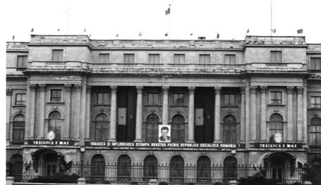 Palatul Republicii in haine de sarbatoare.