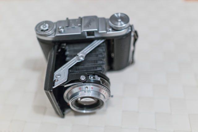 Balda Baldix 75mm f2,9 Baltar lens, folding camera