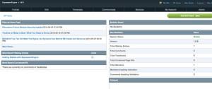 Página principal do painel administrativo ExpressionEngine
