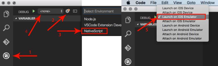 NativeScript - Debug etapas