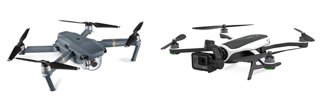 DJI Mavic Pro and the GoPro Karma