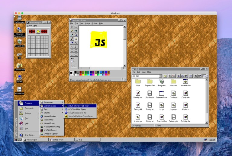 Windows 95 as an Electron App