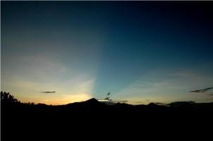 Matahari terbit diambil dari sekitar Observatorium Bosscha. © Alfan Nasrulloh