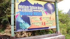 Kawasan wisata gunung kelud dalam menyambut tahun baru 2014.