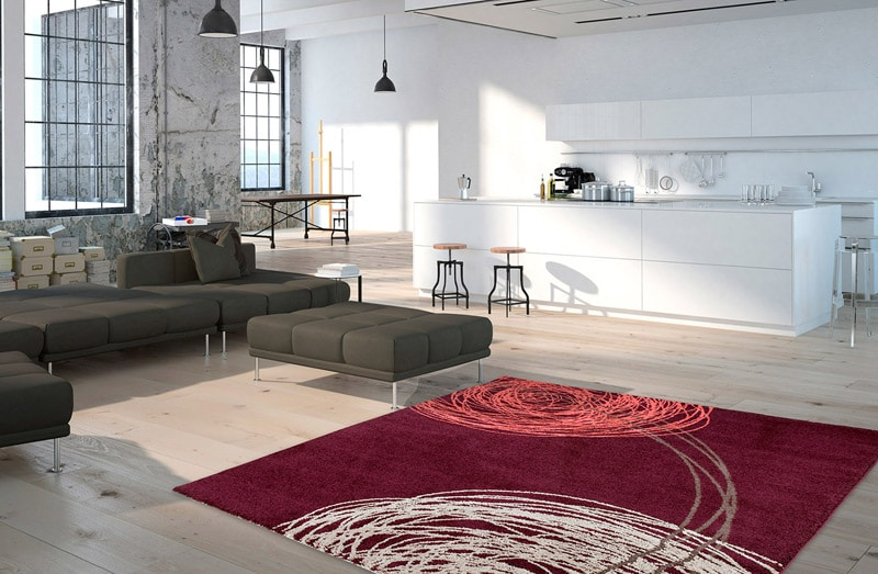 tapis moderne courbe