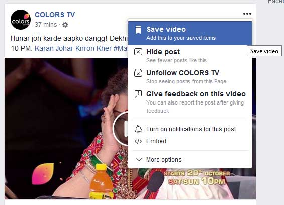how to Save facebook Posts for Later