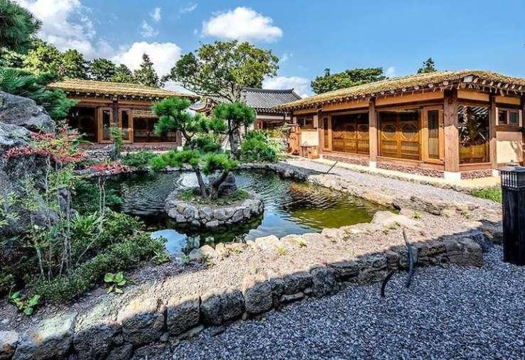 제주 한라궁 호텔 야외 정원