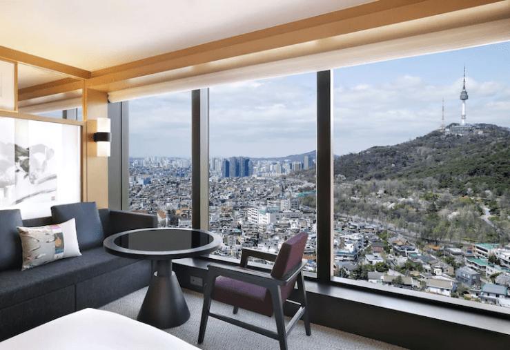 그랜드하얏트 서울호텔 객실 남산 전망