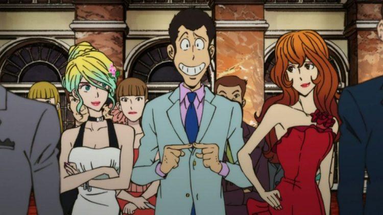 From left, Rebecca Rossellini, Lupin III, and Fujiko Mine