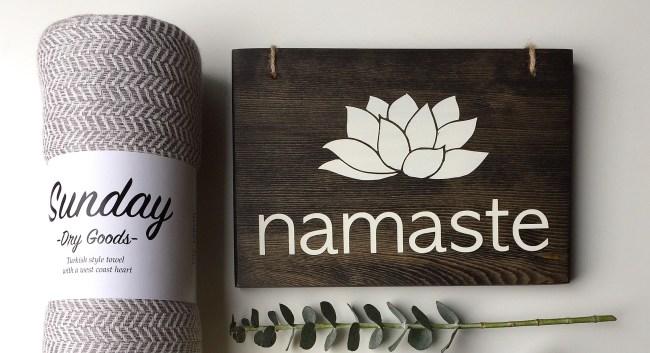 Namaste Sign - AllyBeth Design Co - Sunday Dry Goods