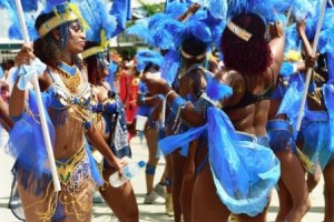 Masqueraders enjoying themselves