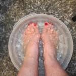 Soaking the feet