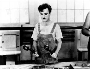 Chaplin in les temps modernes