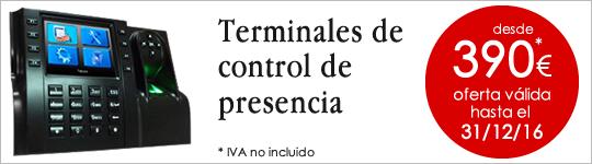 Promoción en terminales de control de presencia