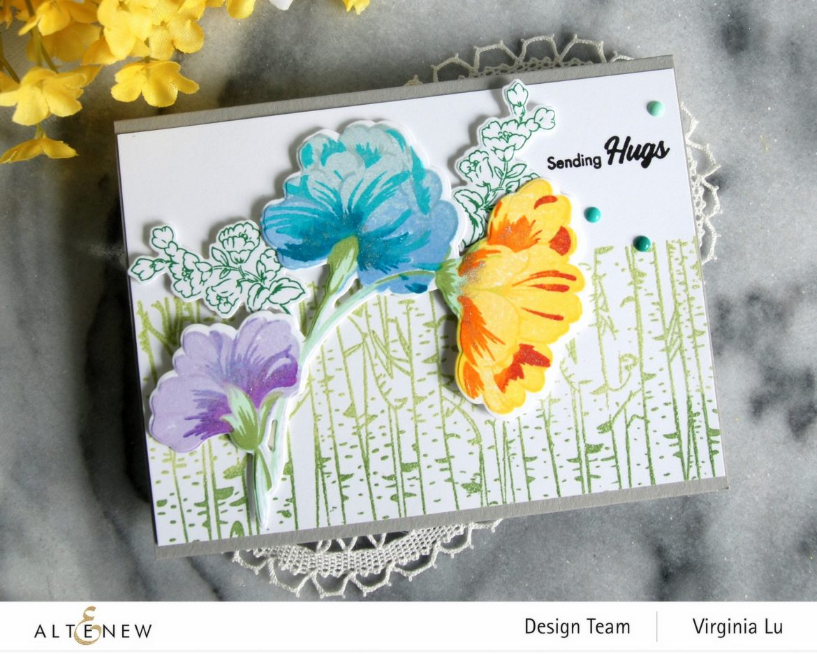 10272020-Birch Forest-Sweet Flowers Stamps & Die Bundle-002