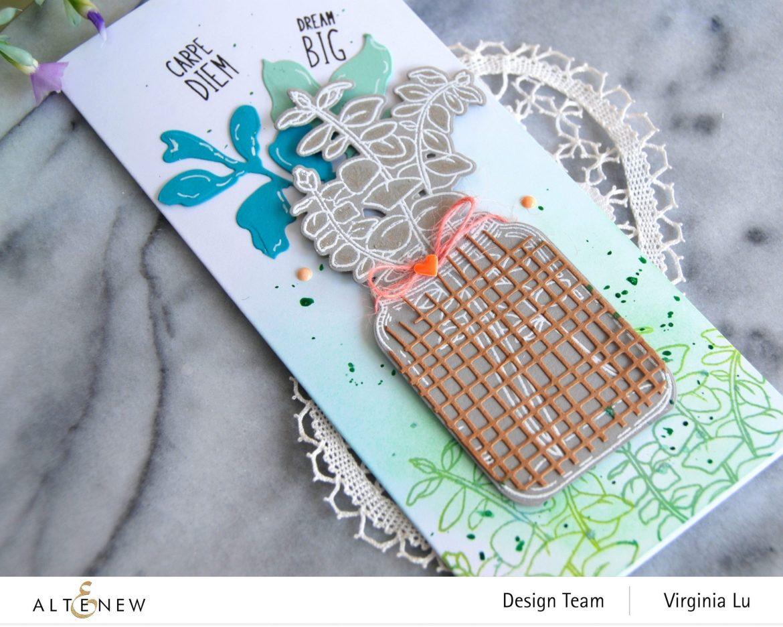 111120-Altenew-Eucalyptus Jar Stamp & Die & Mask Stencil Bundle-Burlap Texture Die (3)