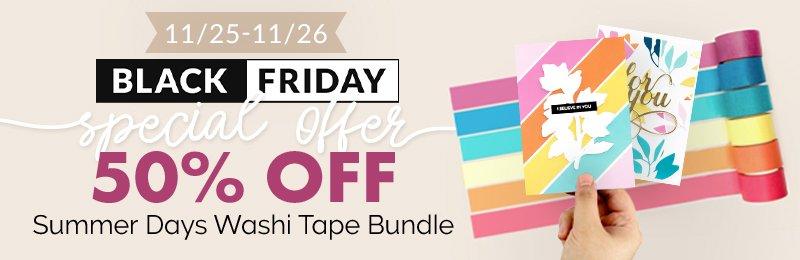 50% off Summer Days Washi Tape bundle