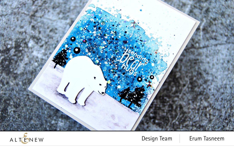 Altenew Mini Delight: Polar Bear Stamp Set | Erum Tasneem | @pr0digy0