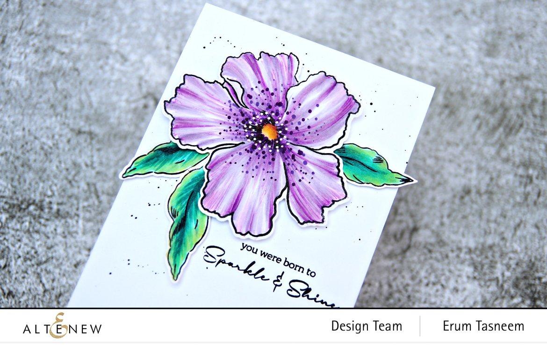 Altenew Sparkled Stamp Set | Erum Tasneem | @pr0digy0