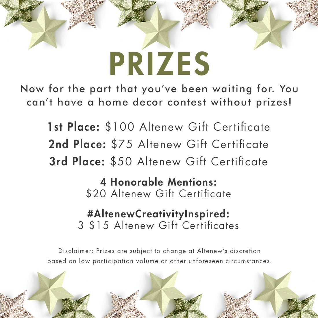 Altenew Creativity Inspired Decked Out Decorations Home Decor Contest