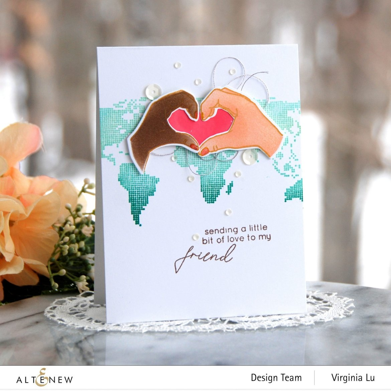 01242021-A Little Bit of Love-World Map Stamp Set