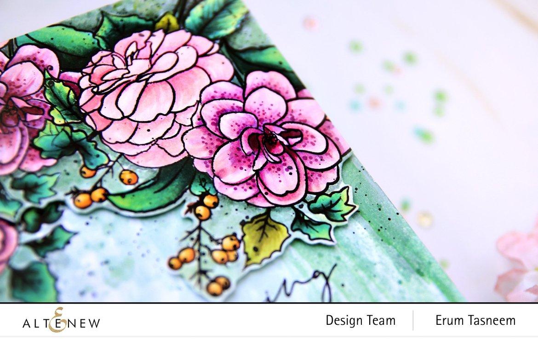 Altenew Paint-A-Flower: Camellia Stamp Set | Erum Tasneem | @pr0digy0