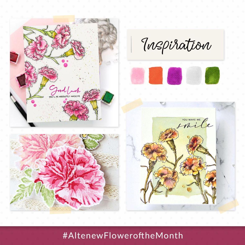 Altenew Flower of the Month Challenge Inspiration
