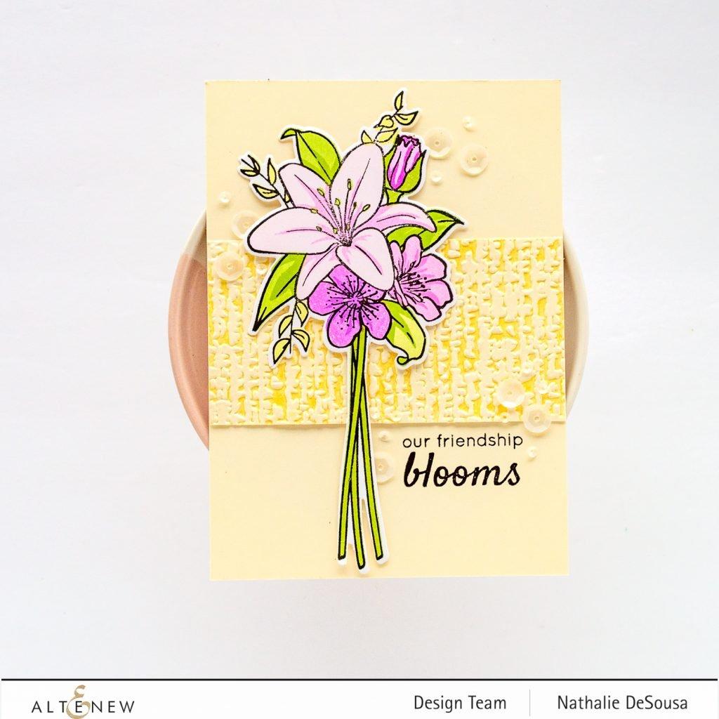 @altenew_ Our Friendship Blooms stamp and die set_Nathalie DeSousa