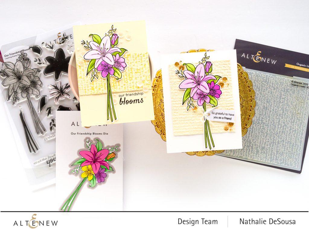 @altenew_ Our Friendship Blooms stamp set_ Nathalie DeSousa