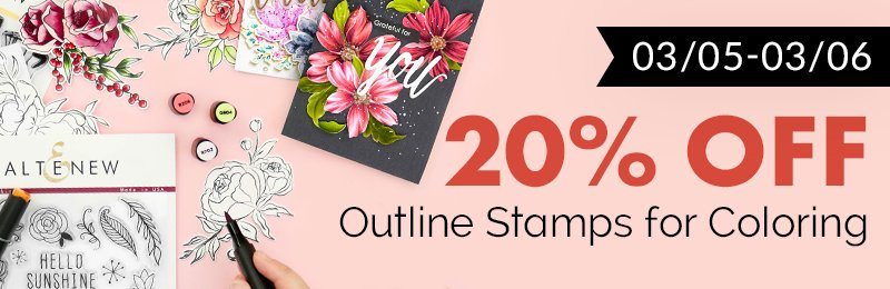 20% off coloring stamps