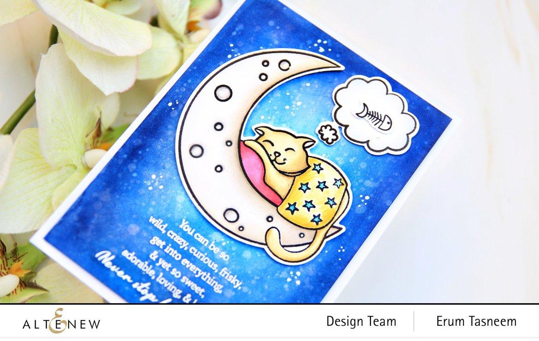 Altenew Dreamy Cat Stamp Set | Erum Tasneem | @pr0digy0